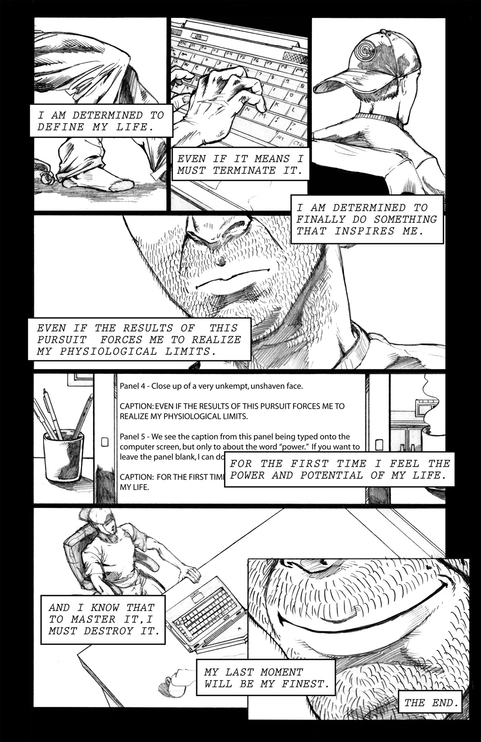 Frozen Man Page 5 (The End)